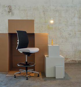Omnia White Plus Stool 02, Büro-Empfangshocker