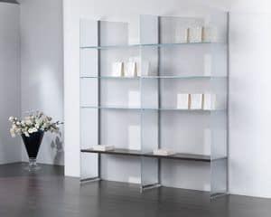 Glassystem COM/GS21, Glaszusammensetzung, Bücherregal, Schaukasten, Haus und Geschäft