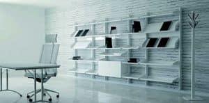 TOTEM, Modular Aussteller Möbel mit Metallgestell und Regale ideal