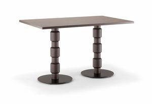 BERLINO TABLE 080 D H75, Rechteckiger Tisch für Restaurant