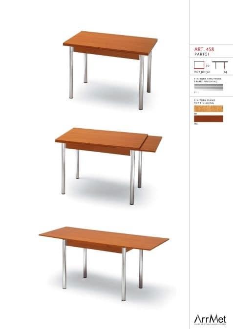 Parigi 70x110, Ausziehbarer Tisch für Küche