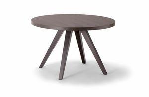 MILANO TABLE 083 H44 T, Runder Beistelltisch aus Holz