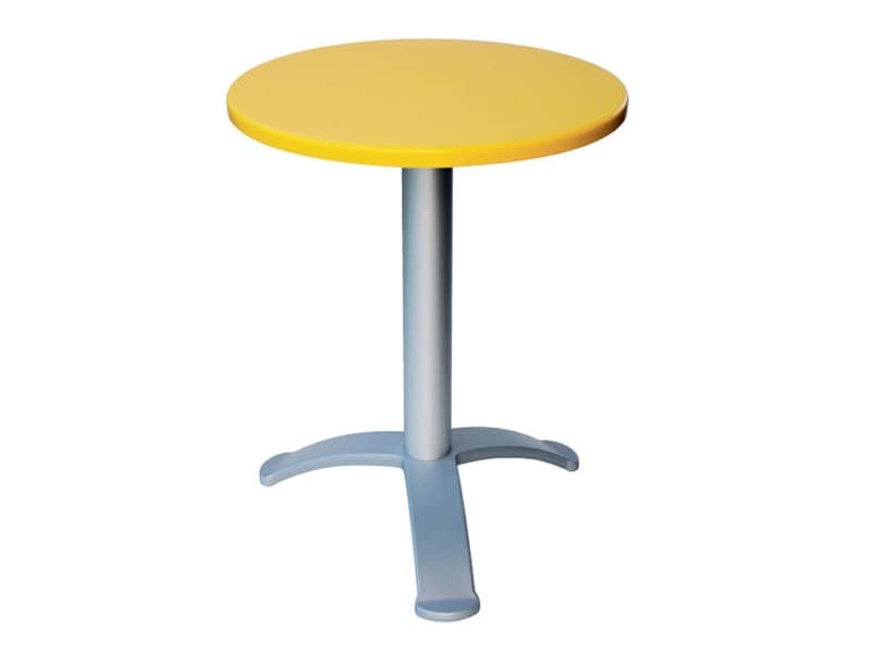 Table Ø 60 cod. 04/BG3, Moderne Kaffee-Bar Tisch, für Cafés im Freien