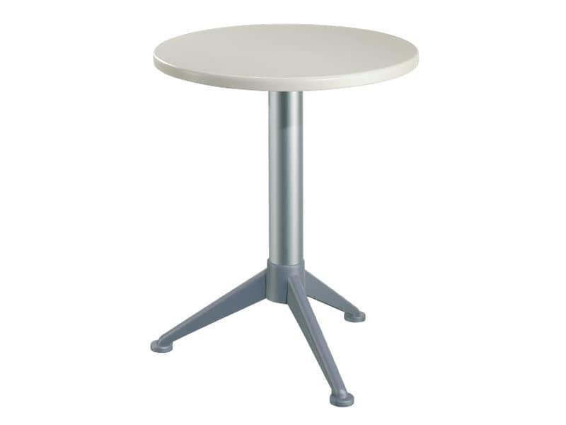 Table Ø 60 cod. 04/BG3A, Runder Tisch für den Außenbereich Bars und Restaurants
