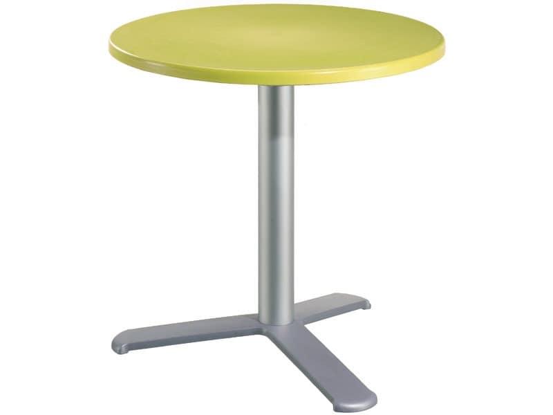 Table Ø 60 cod. 04/BG3L, Outdoor-Stehtisch, Polypropylen top