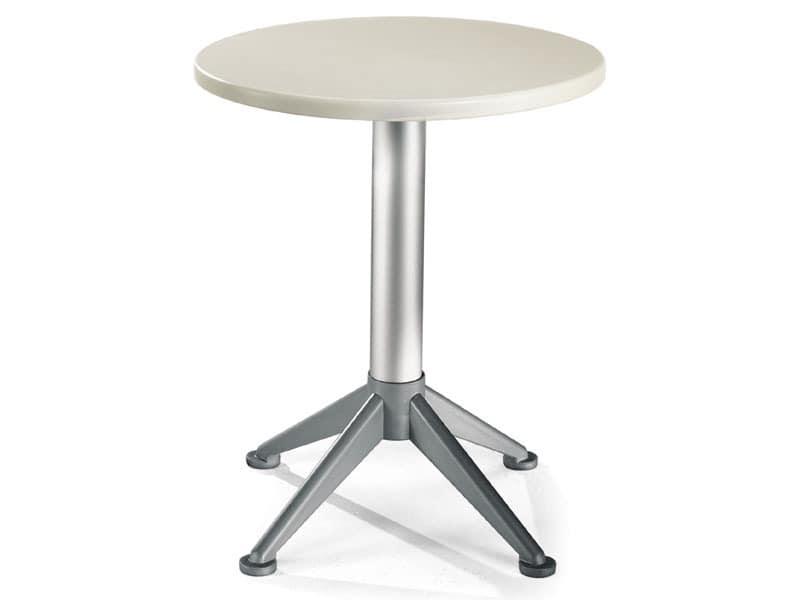 Table Ø 60 cod. 04/BG4A, Moderner Beistelltisch mit 4 Füßen Basis