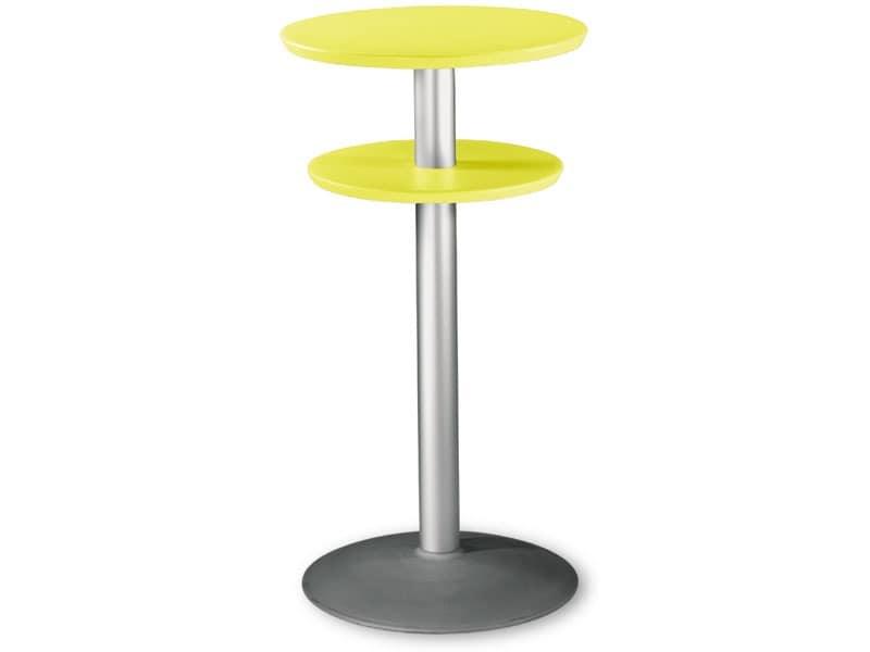 Table Ø 60 h 110 cod. 08/DPBT54, Stehtisch mit Doppel-Top aus Polypropylen