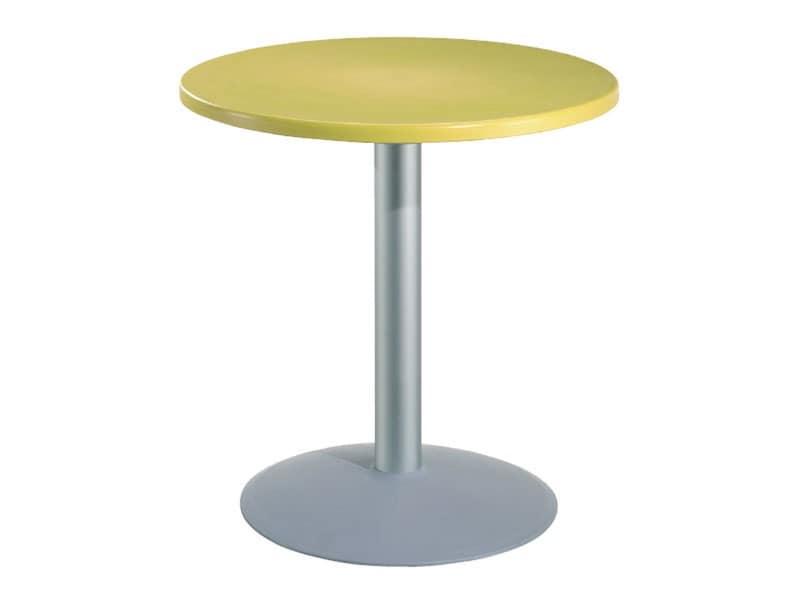 Table Ø 72 cod. 03/BT54, Runden Tisch für Bars mit Polymer oben