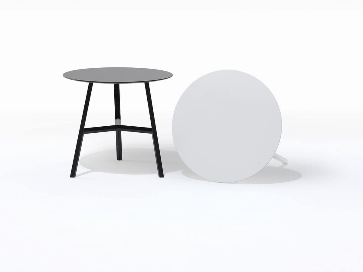 Runder Tisch mit drei Beinen, wesentlich, für Bars   IDFdesign