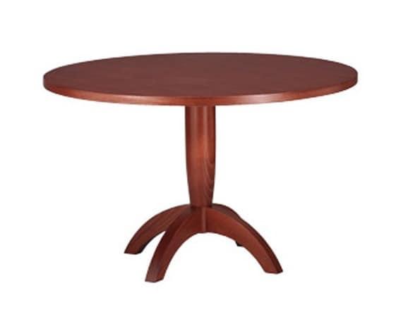 607, Tisch mit runder Spitze, aus Buchenholz, für Küche