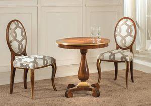 Art. 3546, Holztisch mit eingelegter Platte