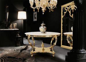Art. 388, Runder Tisch mit Marmorplatte
