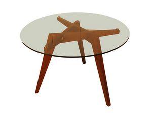 Boomerang 5721, Tisch mit runder Kristallplatte