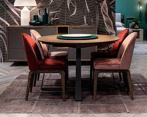 Desi, Runder ausziehbarer Tisch