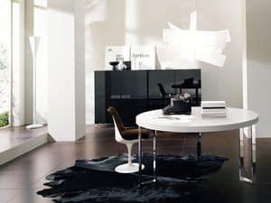 GEORGE Runde, Runder Tisch mit Beinen aus Metall, für Aufenthalte