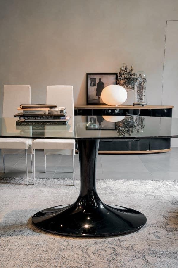 IMPERIAL, Fester Tisch mit Glas- oder Keramikplatte