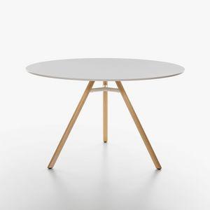 Mart mod. 9834-01 / 9835-01, Tisch mit runder Platte in HPL, in verschiedenen Farben erhältlich