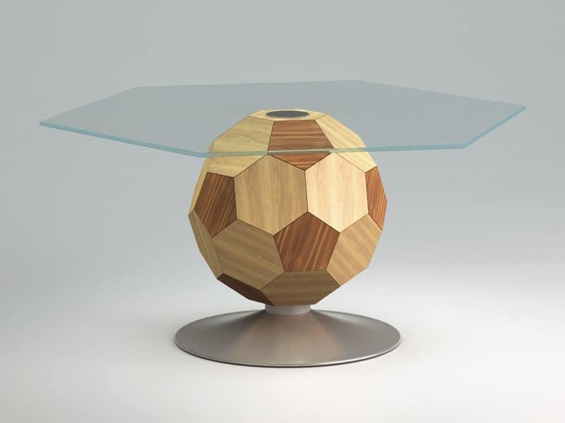 Mundial top, Tavolno zum Zentrum Raum, Glas, Holzrahmen