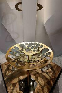 PEGASO Tisch, Tisch mit Untergestell aus Massivholz
