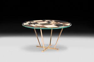 Piet, Runder Tisch mit modernem und elegantem Design
