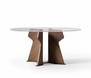 TA70 TA71 TA72 Shape Tiche, Tisch mit runder Platte