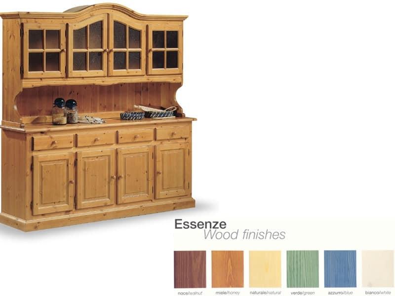 VAD/4, Massivholz Sideboard, für rustikale Wohnzimmer