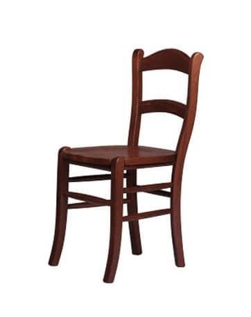202, Rustikal Stuhl aus massiver Buche, für Landhäuser