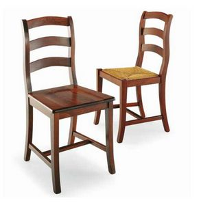 Castellana, Rustikaler Stuhl aus Massivholz