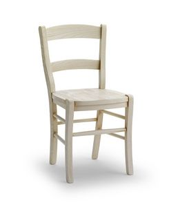 DAMA, Robuster Stuhl aus massivem Eschenholz