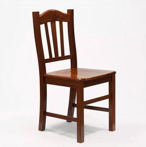 Esstischstuhl Esszimmerstuhl aus Massivholz Design Silvana SS016NOC, Rustikaler Stuhl aus Holz