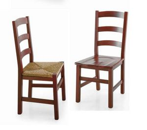 Fiesole, Rustikaler Stuhl mit horizontaler Dekor-Rückenlehne