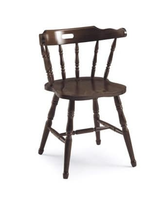 Old America, Rustikal Stuhl aus Holz, mit Rückenlehne in vertikale Muster