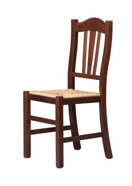 R05, Stuhl aus Massivholz, rustikalen Stil, für den Objektbereich
