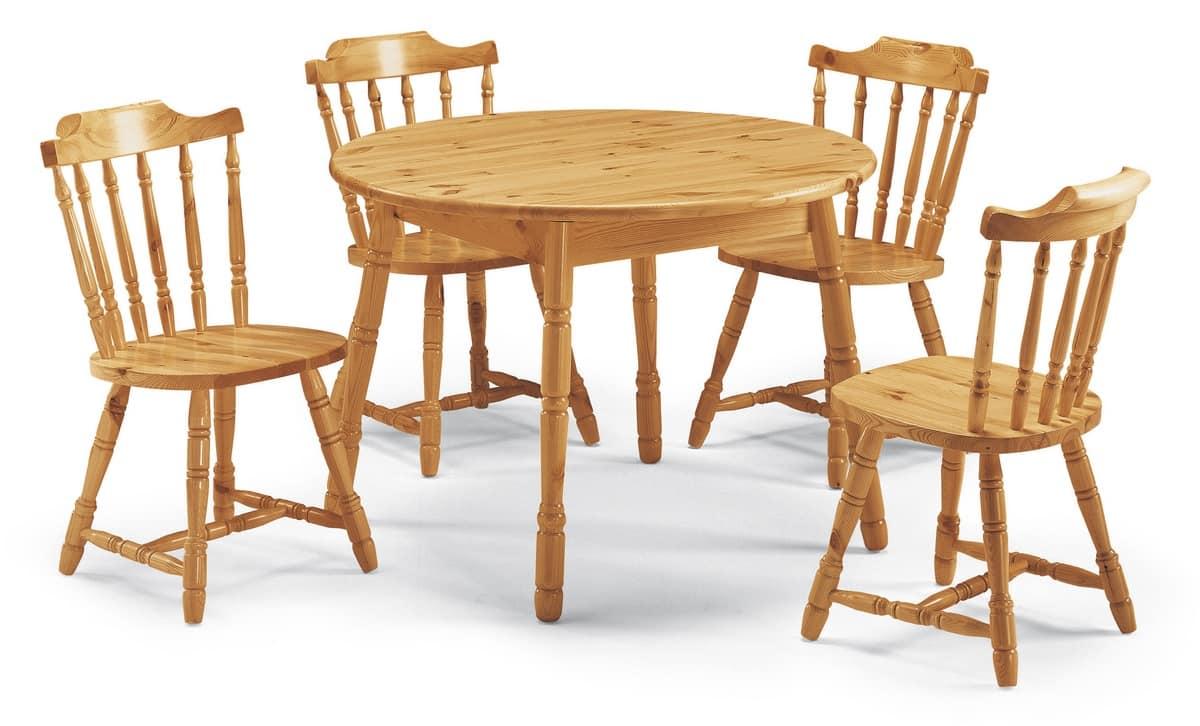 S/104 old america, Rustikal Stuhl aus Holz für Kneipe und Gasthäuser