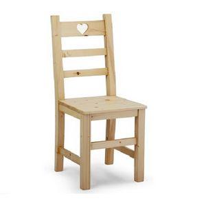 S/142 C Heidi, Rustikaler Stuhl mit dekorativem Herz