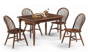 Bormio, Rustikaler Holztisch für Bauernhäuser und Pubs