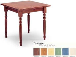 T/080G, Platz Tisch im rustikalen Stil, Holz, für Weinbar