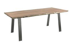 Tisch Aron 200X95, Tisch mit Holzplatte mit unregelmäßigen Kanten