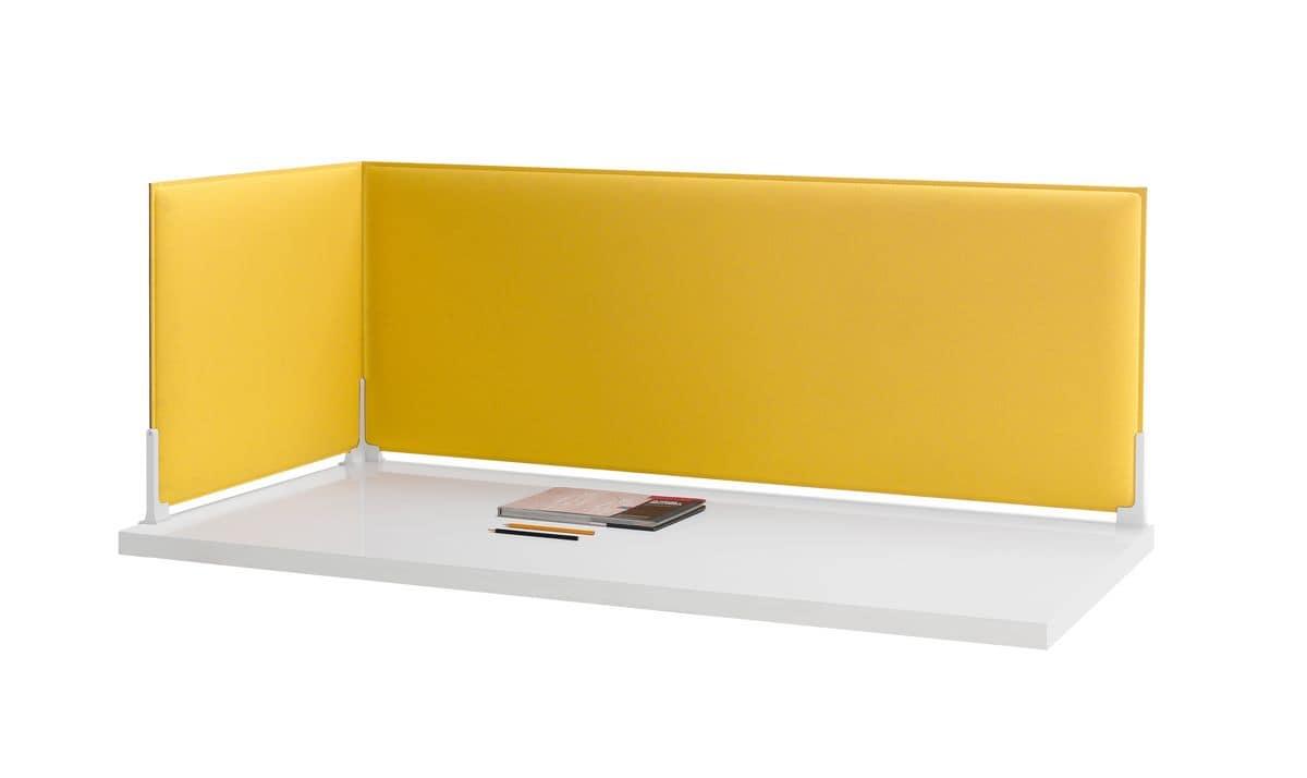 Corner, Schallabsorbierende Trennwände für Schreibtisch