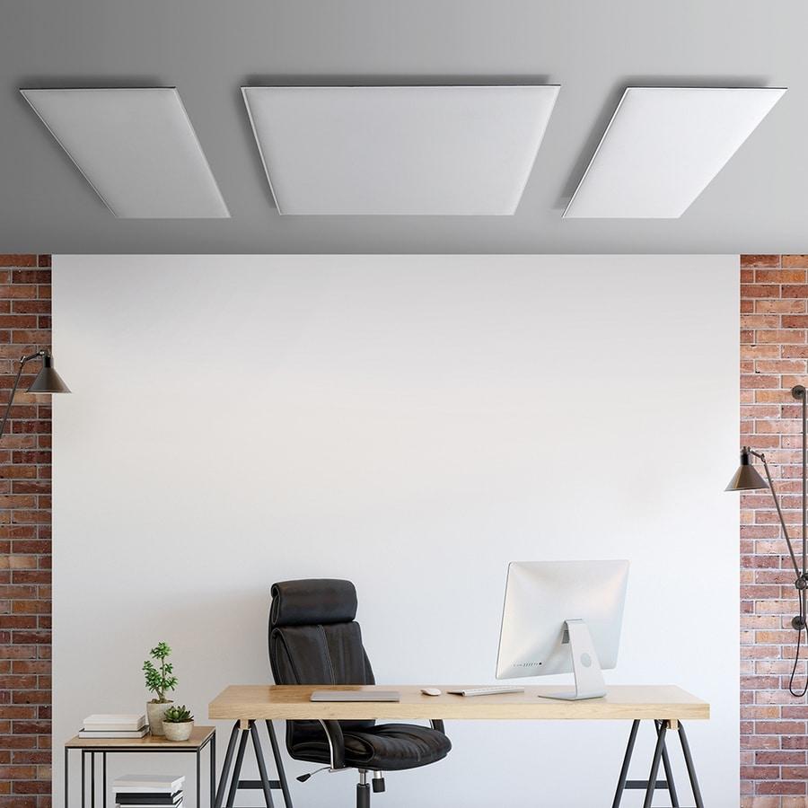 Oversize ceiling, Schallabsorbierende Deckenplatten