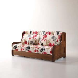 Arcimboldo, Schlafsofa mit abnehmbarem Bezug, rustikalen Stil