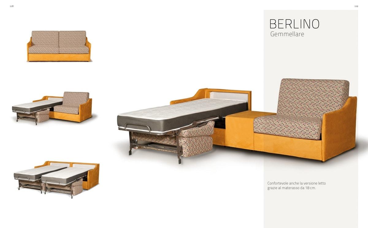 Berlino Gemellare, Sofa verwandelt sich in zwei Einzelbetten