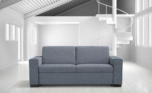 Elio, Modernes Sofa mit abnehmbarem Bezug
