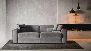 Ellington, Modernes Sofa, das sich in ein bequemes Bett verwandelt