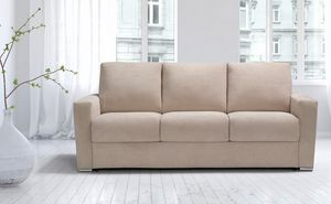 Oliver, Quadratisches Sofa mit nüchternen Linien