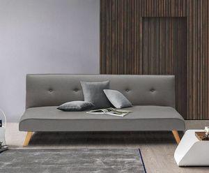 Schlafcouch 2-Sitzer mit Schlaffunktion aus Stoff Wohnzimmer Modern Design LARIMAR - DI3240FGC, Sofa Cabrio ins Bett