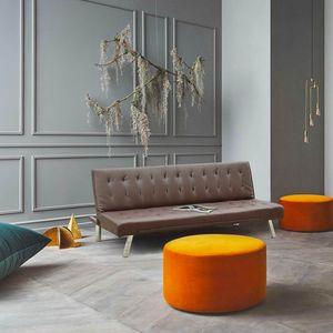 Schlafsofa 3-Sitzer Sofabett Couch Klappsofa Kunstleder ZAFFIRO - DI1990PUM, Schlafsofa aus hochwertigem Kunstleder