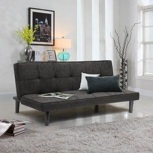 Schlafsofa Bettcouch Stoff Design 2-Sitzer Haus Büro Wohnzimmer GIADA - DI3178GIN, Einfaches 2-Sitzer-Schlafsofa
