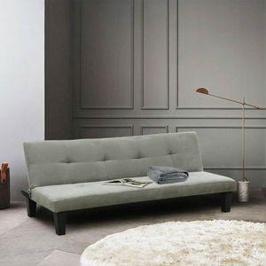 Schlafsofa Sofabett Couch Klappsofa 2 Sitzer Stoff ONICE - DI1706MIG, Schlafsofa aus weicher Mikrofaser