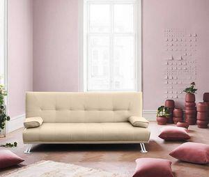 Schlafsofa Sofabett Couch Klappsofa Kunstleder 2 Sitzer OLIVINA - DI1788PUC, Kunstleder Schlafsofa